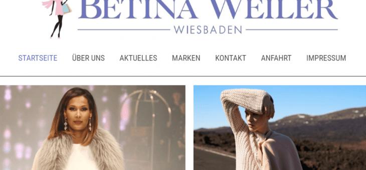 Internetauftritt für BETINA WEILER