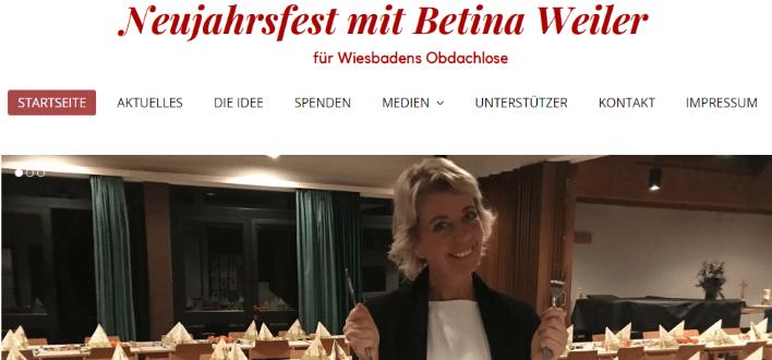 Webseite für das Neujahrsfest von Betina Weiler
