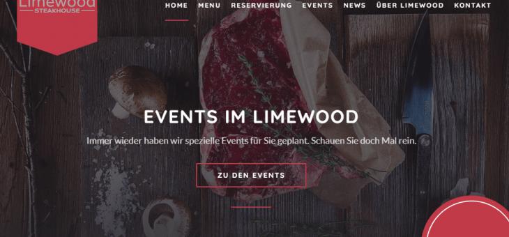 Webseite für das Limewood Steakhouse in Geisenheim